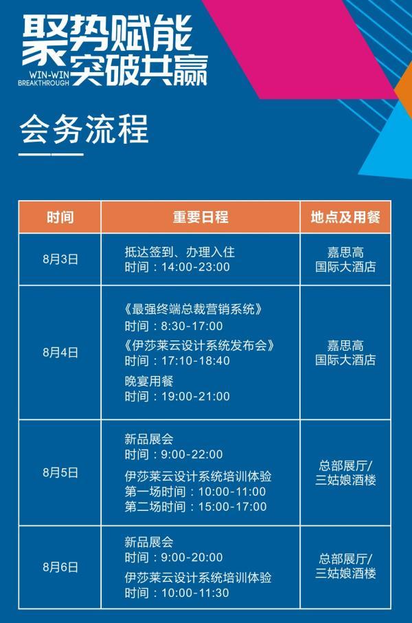 2019伊莎莱全国营销峰会暨秋季新品发布会